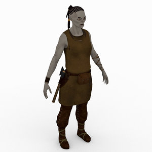 free fictional clothes character 3d model