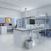chemistry laboratory 2 3d max