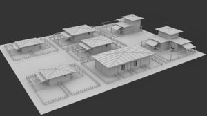 3d farm model