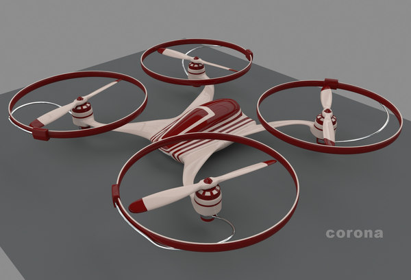 3d model quadrocopter propellers