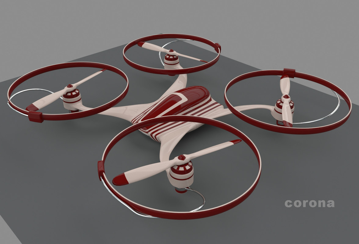 3d model quadrocopter propellers