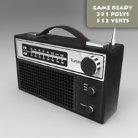 FM Radio Game Ready Pbr