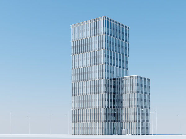 3d model skyscraper urban office