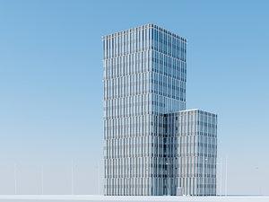 3d model skyscraper urban office