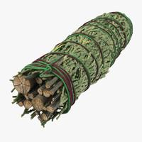 3d smudge stick model