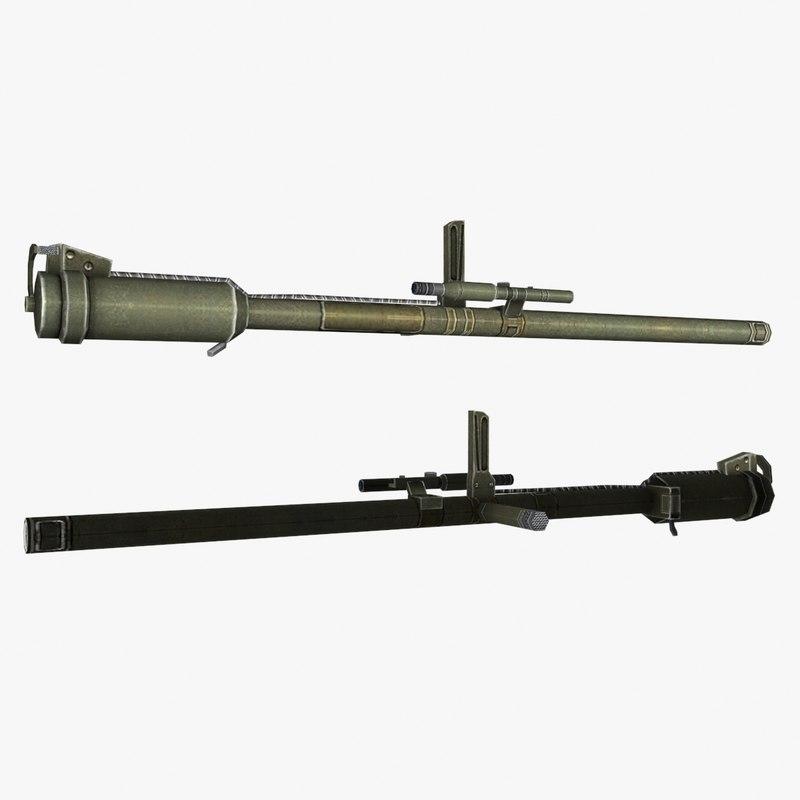 3d model m18rr gun