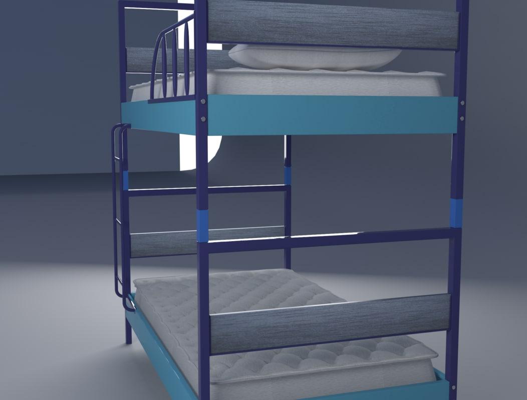 3d bed blunk model