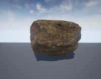 photorealistic rock 3 lods 3d model