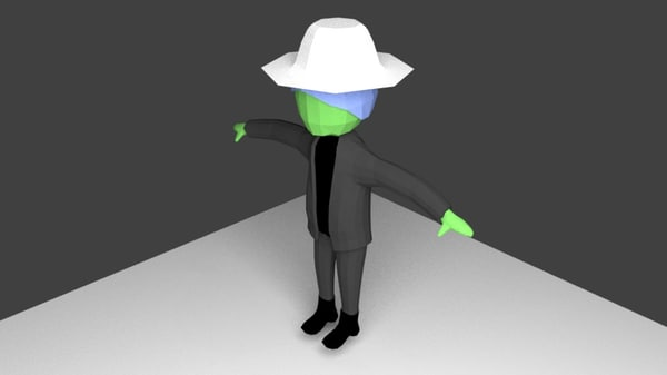 3d rigged cartoon character model