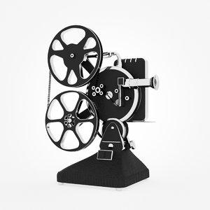 c4d film projector