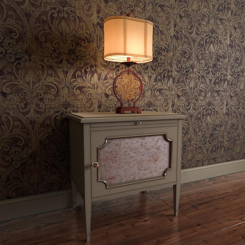 marcella 1lt table lamp 3d model