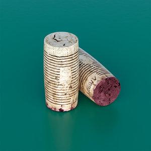 3d wine cork model