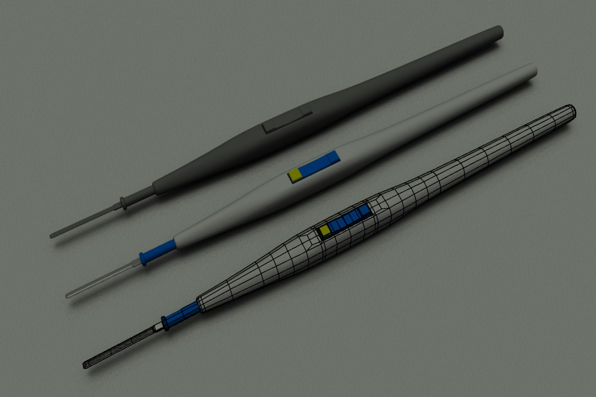 3d model electrosurgical pencil