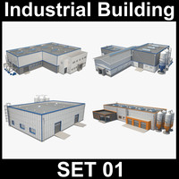 3d model industrial building