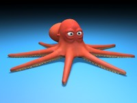 3d model cartoon octopus toon
