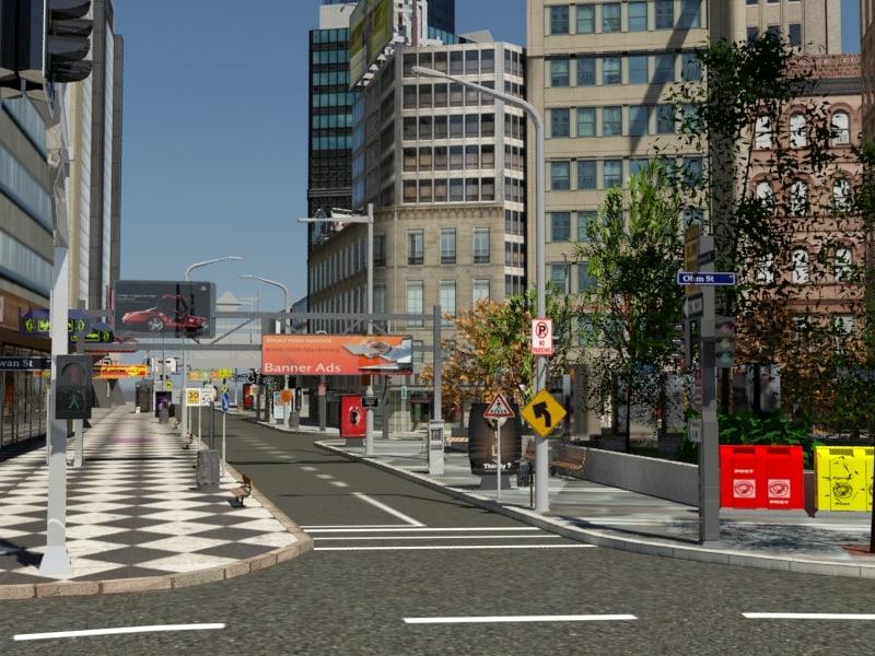 3d model city buildings