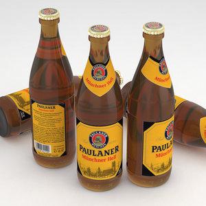 3d model of beer paulaner