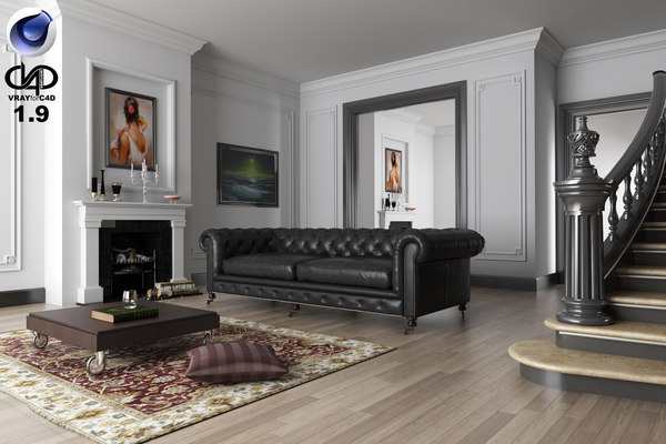 c4d living room vrayforc4d 1