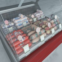 custom refrigerated showcase boiled 3d max