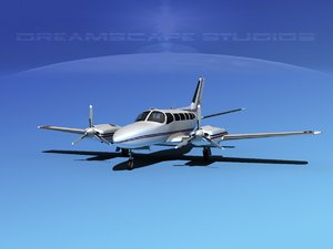 propellers cessna 404 titan 3d dxf