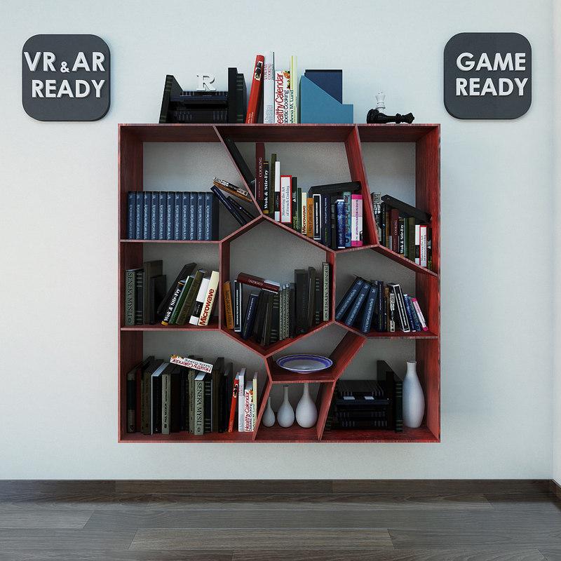 furniture wallshelf games 3d model