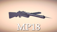 mp18 weapon gun 3d model