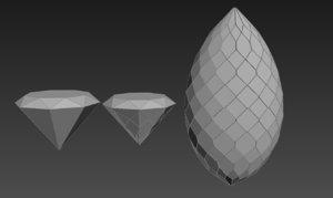 diamond glass design 3d model