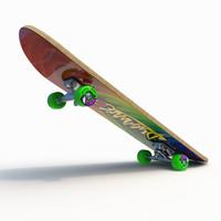 skateboard board 3d max