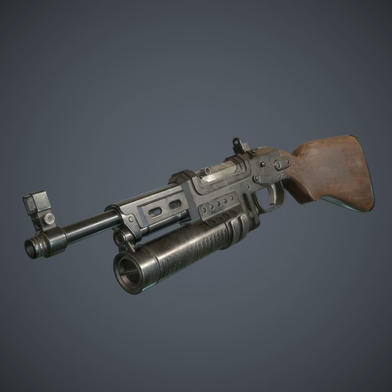 submachine gun spg-17 3d max