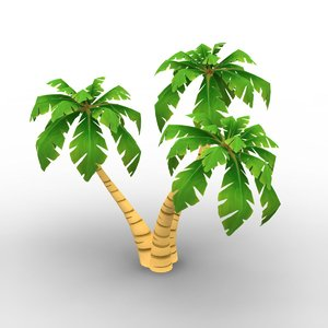 low-poly palms 3d obj