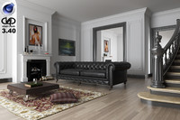 3d living room vrayforc4d 3