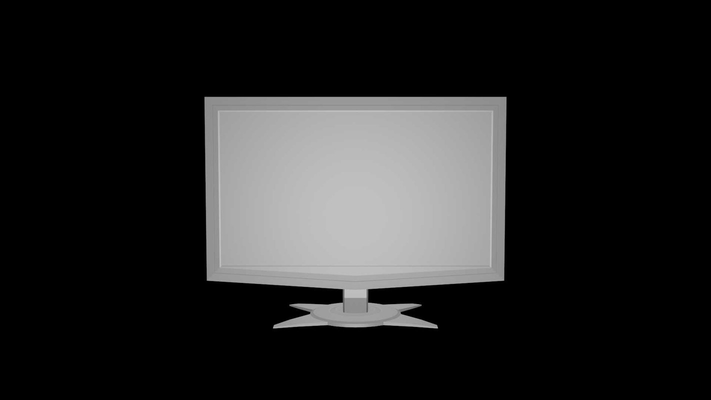 3d computer monitor model