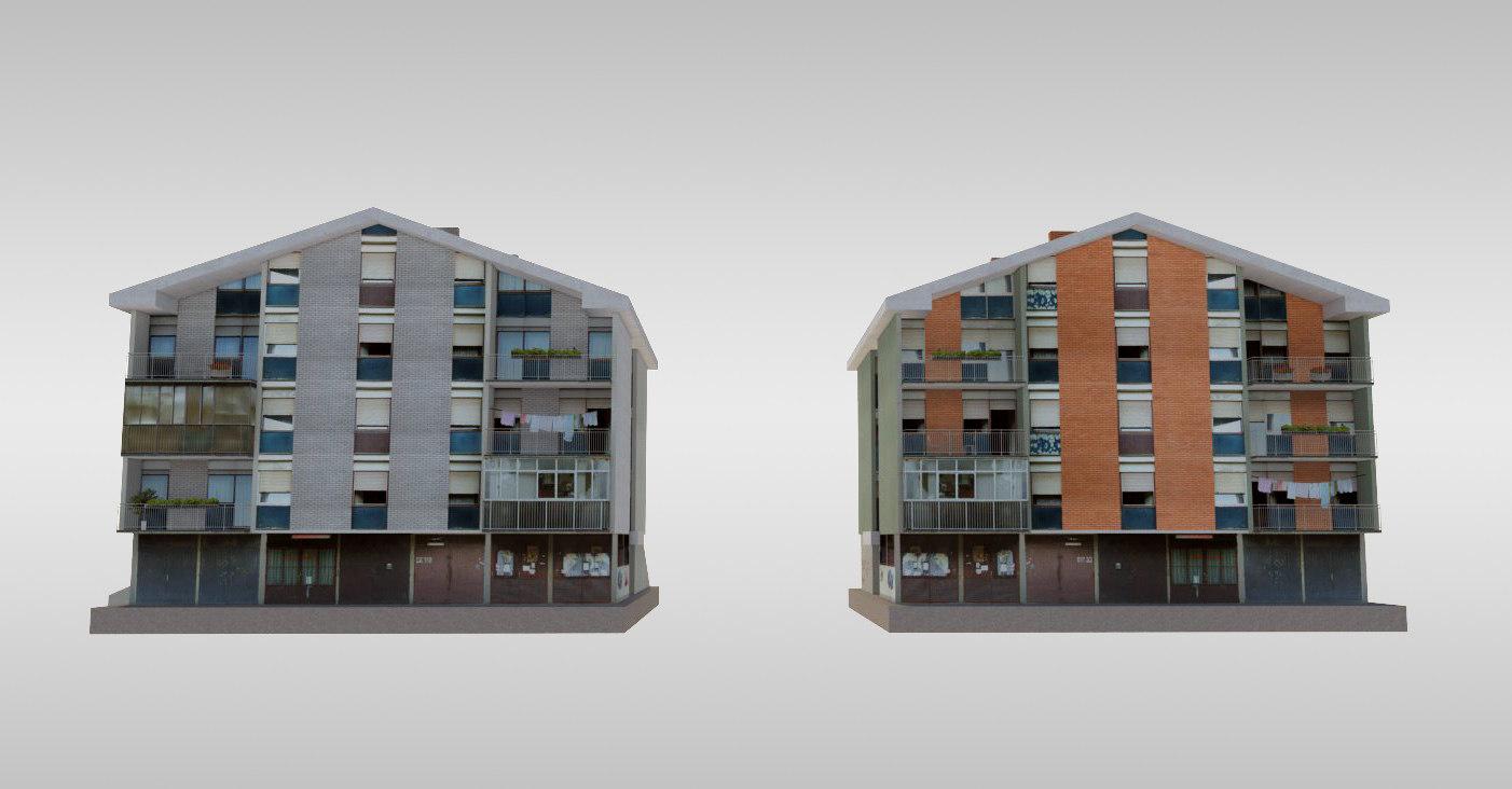 3d suburban serbia residences model