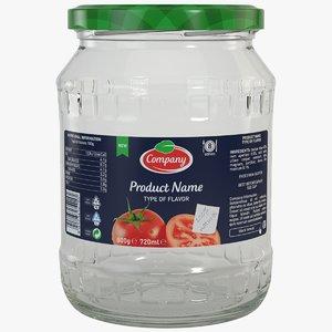packaging jar 3d model