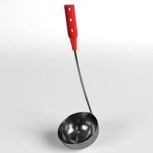 3d ladle dipper scoop