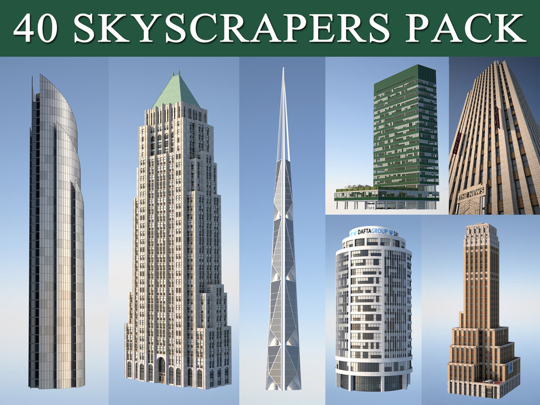 c4d skyscraper pack