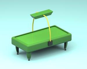 airhockey table 3d model