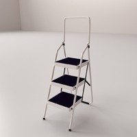 step ladders 3d 3ds