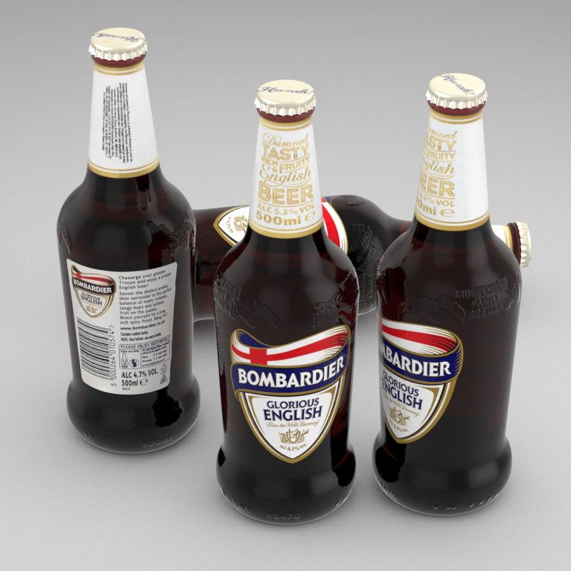 3d beer bottle wells bombardier