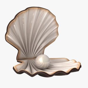 pearl shell animation 3d max
