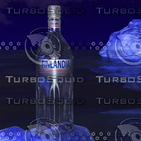 Finlandia vodka with iceberg scene