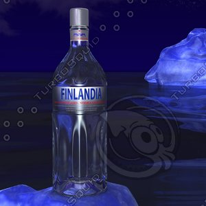 finlandia vodka iceberg scene 3d 3ds