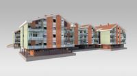 residential suburban 3d fbx