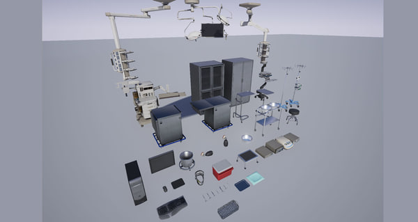3d model medical operating room hospital