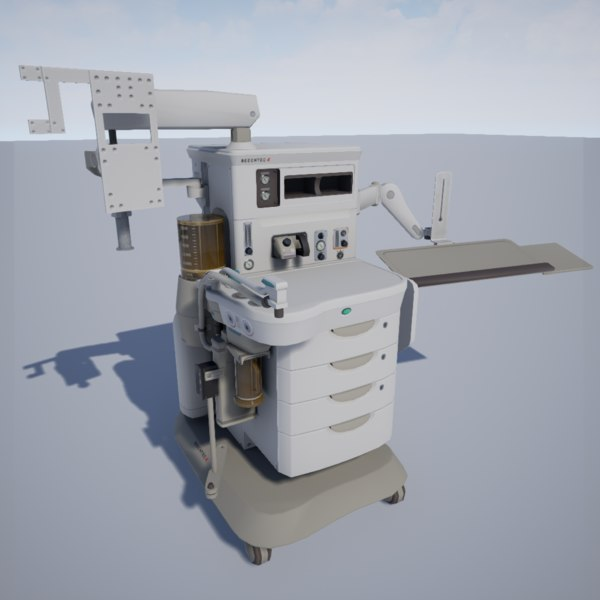3d model of anesthesia machine