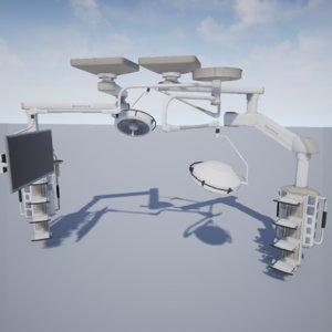 emergency room electronics 3d model