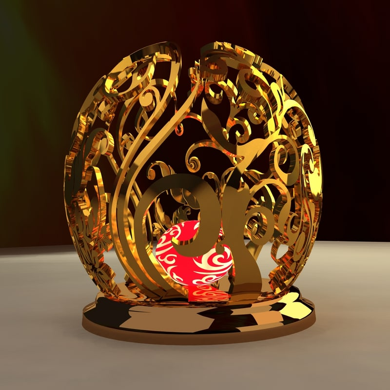 3d model chinese carving pattern