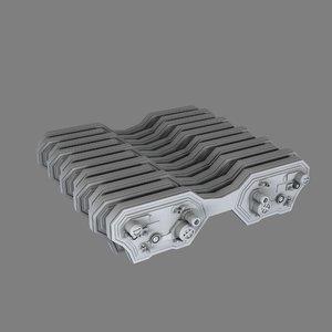 sci-fi radiator 3d model