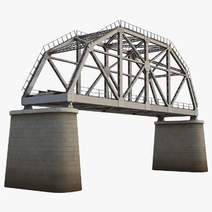 railway bridge 3d model