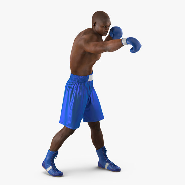 3d model african american boxer 2